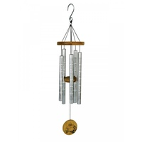 80cm Sutra Tune Wind Chime with Happy Buddha and Chinese Symbols