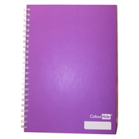 1pce Purple ColourHide A4 Hardcover Notebook 160 Page