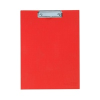 Red A4 Size Colourhide Whiteboard / Clip Board 2 in One Self Standing Design