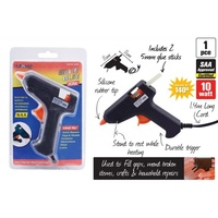1 x Glue Gun. 10W with 24 Glue Sticks. 100mm Thick Clear Glue. Value Bundle