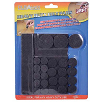 38 Piece Self Adhesive Rubber Pads BLACK Assorted Sizes