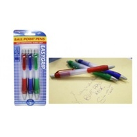3pce retractable blue pens w/grip. Office Supplies. Back to School. Stationery