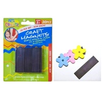 "30pce Craft Magnet Strips Set 5cm x 2"" Great for Art & Craft, Magnet Making"