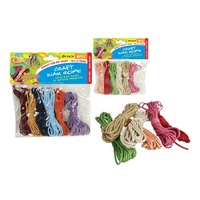 2 pack Colour Wax Cord String 6 Pastel Colours 3m Long Each Great for Craft and Gift Wrap