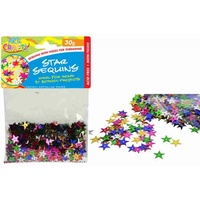 1 pack craft Star Sequins 30g multi colours, scrapbooking, craft, party