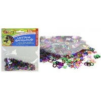 1 pack craft Alphabet/Letter Sequins 25g multi colours, scrapbooking, craft