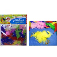 14g Assorted Bright Coloured Art and Craft Feathers