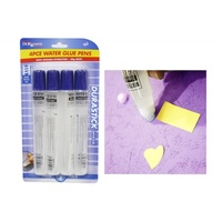 4pce Water Glue Pens - 50g each - Value Pack