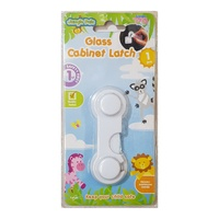 1 x Glass Cabinet Safety Latch 9.5cm - Baby Safety