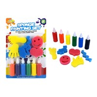 12pce Paint and Sponge Set - Coloured