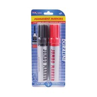 2pce Jumbo Permanent Markers.6mm Tip.Office Supplies.Back to School.Stationery