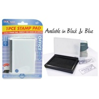 2pce Blue/Black Stamp Pad 5x8cm. Office Supplies. Back to School. Stationery