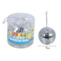 1pce 9cm Novelty Mirror Ball Hanging, Parties Events, 80s Theme