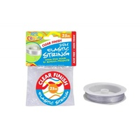 1pce Clear Elastic String 25m Long for Craft, Beading, Jewellery