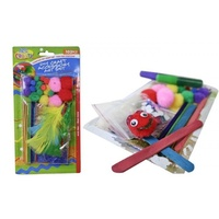 103pce DYI Craft Accessory Art Set, Pom Poms, Feathers, eyes, glitter