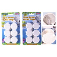 12pce Safety Power Outlet Plugs - Kids/Baby Proofing Home Safety Range