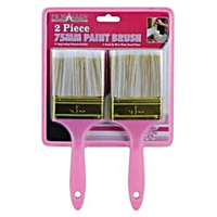 2pce Paint Brush Set 75mm Wide x 23cm High Hot Pink Collection