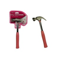 1pce Hot Pink Claw Hammer 227g Ideal for Craft, Hanging Pictures