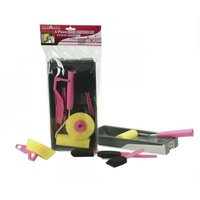 6pce Foam Roller & Painting Set for Ladies in Pink