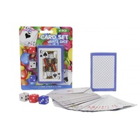 4pce x Card Set. Comes with 3 Dice and 1 Deck of Cards. Australian. Poker.