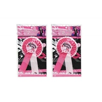 1pce  'Blushing Bride' Rosette Rubber Badge for Hens Night.
