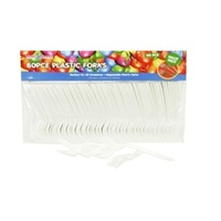 80pce x Disposable Plastic Forks - Value Pack. Parties, Birthdays and Events.