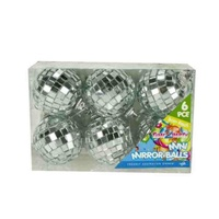 6pce Mini Mirror Balls 5cm Diameter Hangable Great for Party Theming