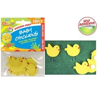 10pce Wooden Chicks/Chickens, great for card making, scrapbooking