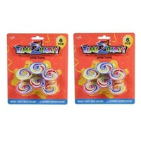 1 Pack 6pce of Spinning Tops Retro Style 4cm Party Loot Bag Filler