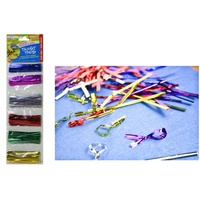 400PCE Metallic Craft Twist Ties. ASSORTED COLOURS. Great for Loot Bags, Parties