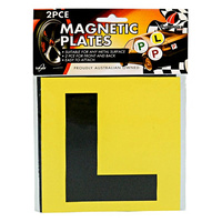 2pce Magnetic L Plates - Learners Plates for Queensland Standard