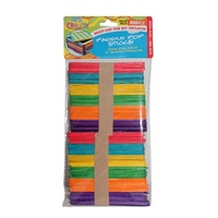 100 pce 11.5CM Paddle Pop Sticks, multi colours, scrapbooking, craft