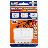 5PCE Self-Adhesive Lead Hold 4mm Removable
