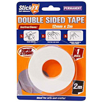 1 ROLL White Double Sided Tape 12mm x 2m -