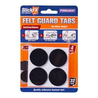 4pce Self-Adhesive Felt Guard Tabs 32mm - Furniture Floor Stratch Protector