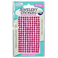 180pce Adhesive Rhinestones - Hot Pink 5mm, Scrapbooking Art & Craft Card Making