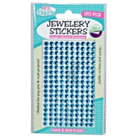 180pce Adhesive Rhinestones - Blue 5mm, Scrapbooking Art & Craft Card Making