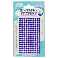 180pce Adhesive Rhinestones - Purple 5mm, Scrapbooking Art & Craft Card Making