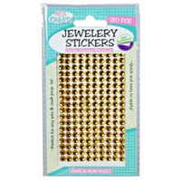 180pce Adhesive Rhinestones - Gold 5mm, Scrapbooking Art & Craft Card Making