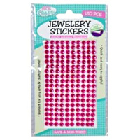 180pce Adhesive Rhinestones - Pink 5mm, Scrapbooking Art & Craft Card Making