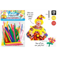20pce Magic Balloons for Balloon Twisting, Making Animals and Shapes, 26cm