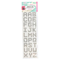 27pce Alphabet Rhinestones Crystal Clear for Craft, Scrapbooking, Phone Decoration