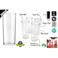 1pce Polycarbonate High Ball Tumbler Glass 360ml