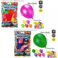20pce Helium Quality Rubber Balloons Assorted Colours, Parties & Events