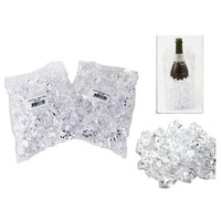 1 Pack x CLEAR Ice Cubes - 250g. Assorted Designs and Colours. Theming & Wedding