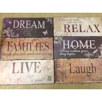 DREAM - Inspirational Plaque 35x15cm Made of MDF. Rustic Vintage Style.