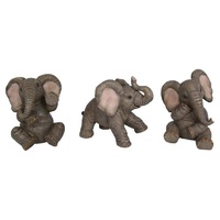 1pce 12cm Cute Baby Elephant Posing, Realistic Features