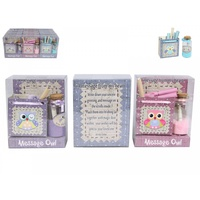 Mini Messenger Gift Pack for Kids, Owl Design