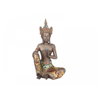 32cm Thai Style Buddha With Gem and Fabric Clothing In Meditiation Pose