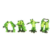 12cm Frog Couple In Love Poses Figurine, Gloss Marble Finish